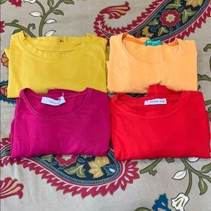 Long Sleeve Cotton Tees Body shirts Solid Color